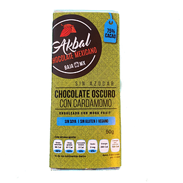 75% cocoa with cardamom and monk fruit
