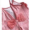 Vestido Lycra - VICHY CORAL-