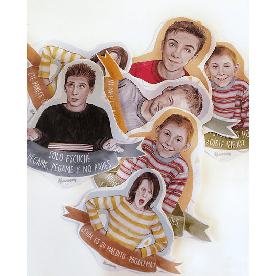 SET 8 STICKERS MALCOLM IN THE MIDDLE