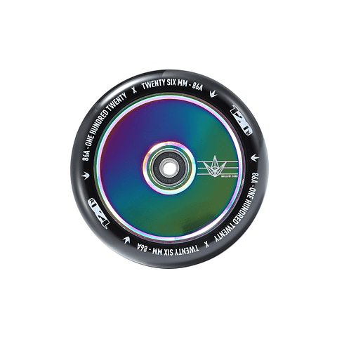 120mm Wheels Hollow core Oil Slick Black Pu
