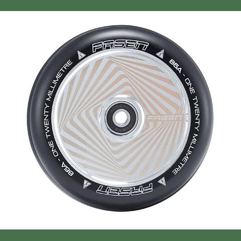 Fasen 120mm Wheel Hollow Core Hypno Square Chrome
