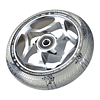 Tri Bearing Wheel 120mm x 30mm Chrome Clear