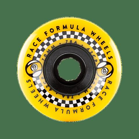 Race Formula Center Set Yellow 70mm 78A