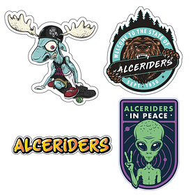 Stickers Alce 4 pack