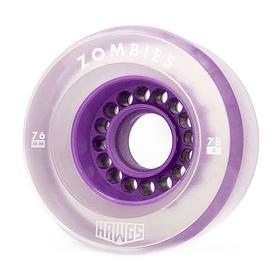 Clear Zombie Hawgs  76mm - 78a Purple Core