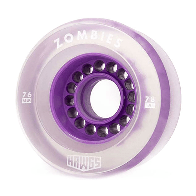 Clear Zombie Hawgs  76mm - 78a Purple Core