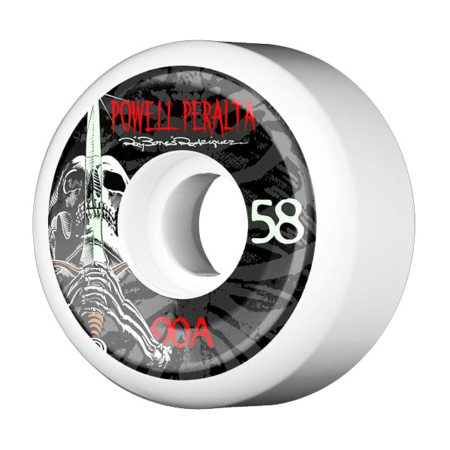 Skull & Sword 58mm x 90a White