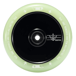 Envy 110mm wheels hollow core glow black