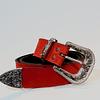 Cinturón cuero rojo
