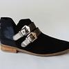 Zapato cuero reno negro y trabas