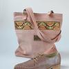 Bolso cuero reno rosa modelo Hippie