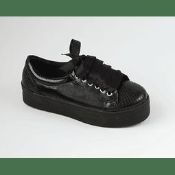 Zapatilla Cuero Negra 3D