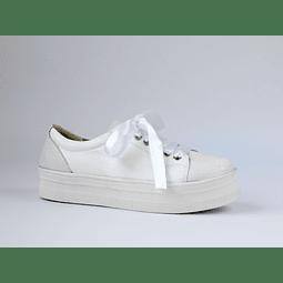 Zapatilla cuero blanca 3D