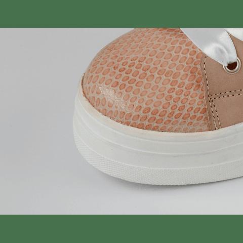 Zapatilla cuero rosa 3D