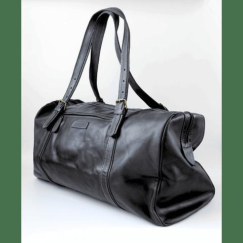 Bolso viaje cuero negro