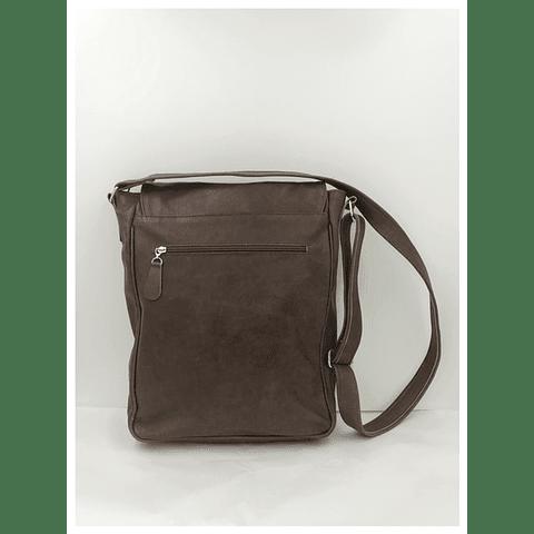 Bolso Notebook cuero café