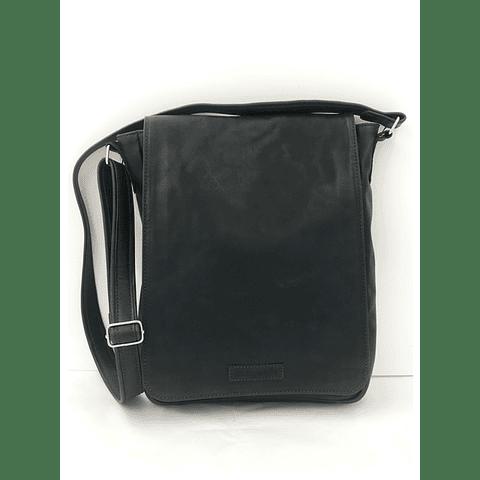 Bolso Notebook cuero negro