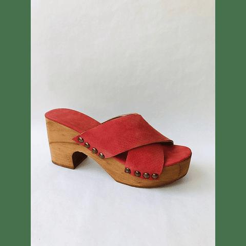 Sandalia madera coral