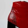 Botín plataforma cuero richato rojo