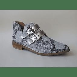 Zapato bajo cuero pitón