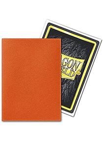 Micas Dragon Shield - Tangerine Matte 100 Standard Size (Back Order)