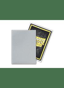 Micas Dragon Shield - Silver Matte Non-Glare 100 Standard Size (Back Order)