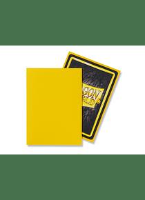 Micas Dragon Shield Yellow Matte 100 Standard Size (back Order)