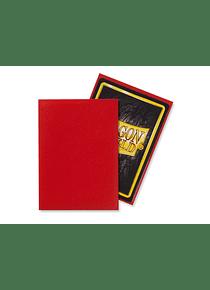 Micas Dragon Shield - Crimson Matte 100 Standard Size (Back Order)