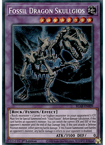 Fossil Dragon Skullgios - BLAR-EN009 - Secret Rare