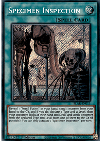 Specimen Inspection - BLAR-EN013 - Secret Rare