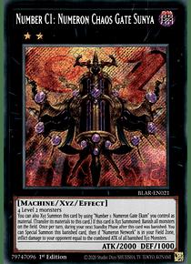Number C1: Numeron Chaos Gate Sunya - BLAR-EN021 - Secret Rare