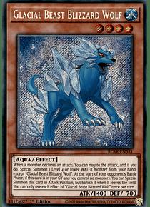Glacial Beast Blizzard Wolf - BLAR-EN031 - Secret Rare