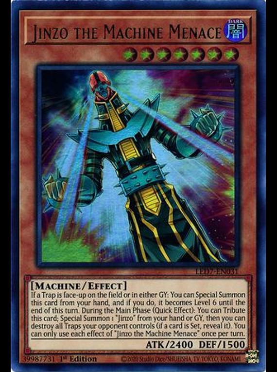 Jinzo the Machine Menace - LED7-EN031 - Ultra Rare