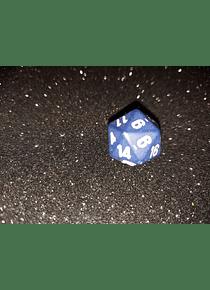 Dado 20 caras - Chessex - Morado Azul  Medianoche