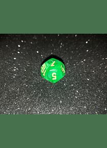 Dado 12 caras - Chessex - Verde