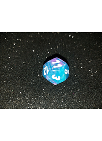 Dado 12 caras - Chessex - Azul con Morado