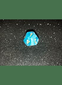 Dado 12 caras - Chessex - Azul Marmol