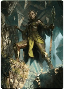 Nissa of Shadowed Boughs Art Card (5/81) - ZNR - A