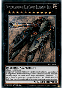 Superdreadnought Rail Cannon Juggernaut Liebe - LDS2-EN124 - Secret Rare
