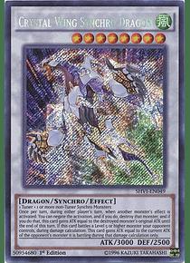 Crystal Wing Synchro Dragon - SHVI-EN049 - Secret Rare
