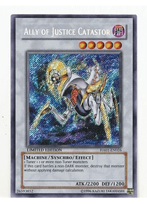 Ally of Justice Catastor - HA01-EN026 - Secret Rare