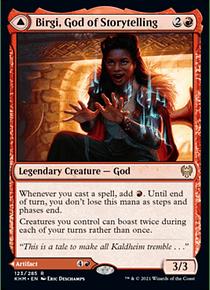 Birgi, God of Storytelling - KHM - R // Harnfel, Horn of Bounty