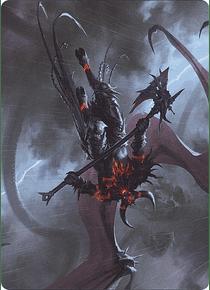 Burning-Rune Demon Art Series: Kaldheim