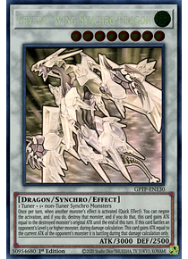 Crystal Wing Synchro Dragon - GFTP-EN130 - Ghost Rare