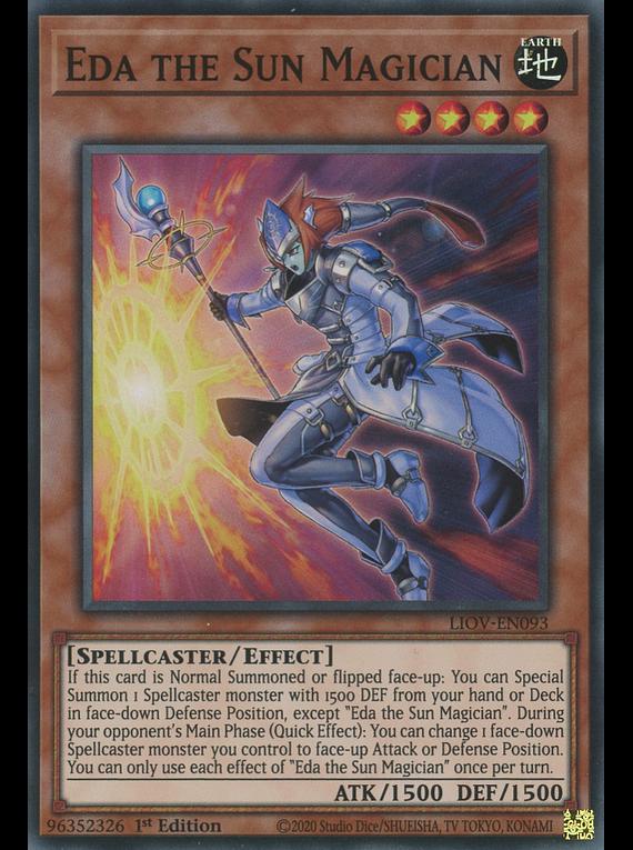 Eda the Sun Magician - LIOV-EN093 - Super Rare