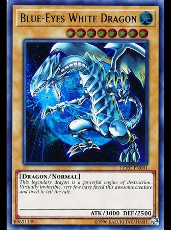 Blue-Eyes White Dragon (Earth Background) - LCKC-EN001 - Ultra Rare