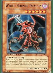 White-Horned Dragon - GXNG-EN001 - Ultra Rare