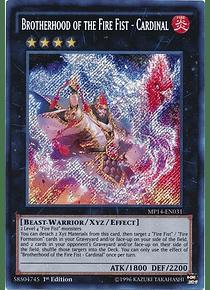 Brotherhood of the Fire Fist - Cardinal - MP14-EN031 - Secret Rare