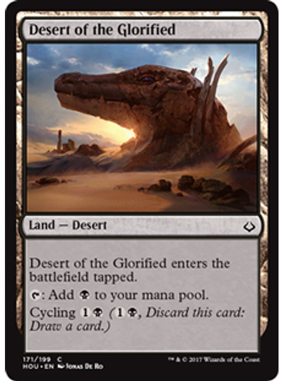 Desert of the Glorified - HOU