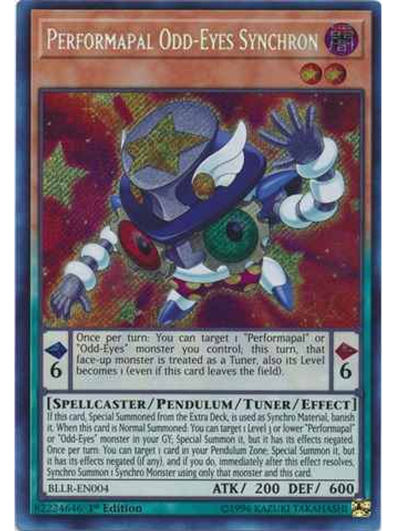 Performapal Odd-Eyes Synchron - BLLR-EN004 - Secret Rare